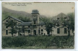 Gymnasium Boys High School Paarl Cape Colony South Africa 1905 postcard