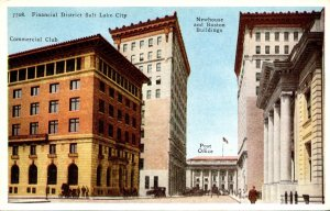 Utah Salt Lake City Financial District Commercial Club Newhouse and Boston Bu...