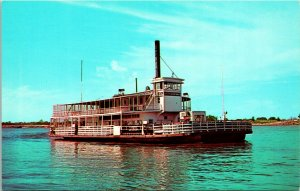 Mississippi River MS Ferry Boat Postcard unused (17249)