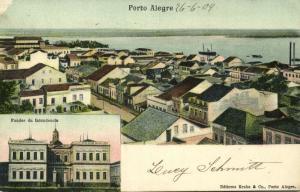 brazil, PORTO ALEGRE, Partial View, Fundos da Intendencia (1904) Stamp