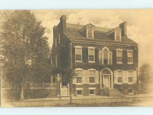 Unused 1940's HISTORIC HOME New Castle Delaware DE W3655