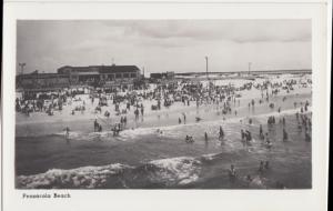 Pensacola Beach FL - view of folks enjoying the sand, surf, and sun, 1940s