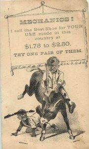 Dudley Kellys Shoe Emporium Black Americana Victorian Trade Card
