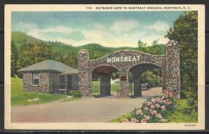 North Carolina, Montreat - Entrance Gate To Montreat Grounds - [NC-054]