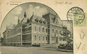 hungary, SZEGED, Kereskedelmüskola, Commercial School (1900) Postcard