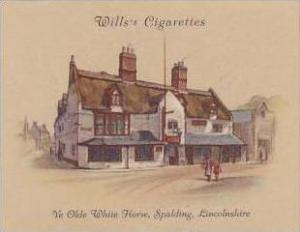 Wills Cigarette Card 2nd Series No 39 Ye Olde White Horse Spalding Lincolnshire