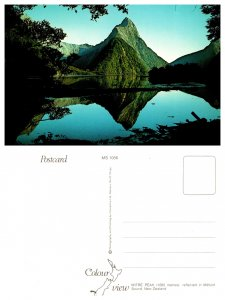 Mitre Peak, reflected in Milford Sound, New Zealand