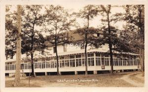 B67/ Interlochen Michigan Mi Real Photo RPPC Postcard 1930 Hotel Pennington