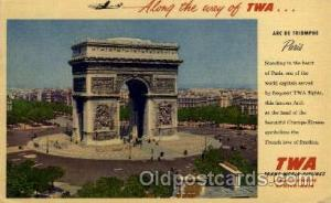 TWA Arc DE Triomphe Paris  Airplane, Aviation, Postcard Post Card  TWA Arc DE...
