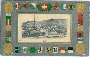 Ansichtskarten Schweiz VINTAGE POSTCARD: SWITZERLAND - GRUSS AUS: GAIS 1909