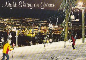 Canada Night Skiing Grouse Mountain North Vancouver British Columbia
