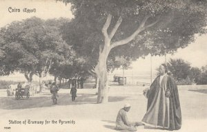 CAIRO , Egypt , 1900-1910´s ; Station of Tramway for  Pyramids