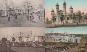 Senagalese Indian Pavillion Palace 4x Antique Franco London Exhibition Postcard