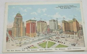 Vintage Postcard, Pershing Square Hotel New York City Early 1900s Divided Back
