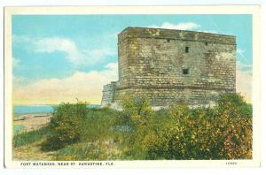 Fort Matanzas, near St. Augustine, Florida, 1910s-1920s unused Postcard