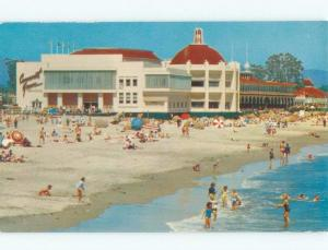 Unused Pre-1980 CASINO BUILDING AT BEACH Santa Cruz California CA d6898