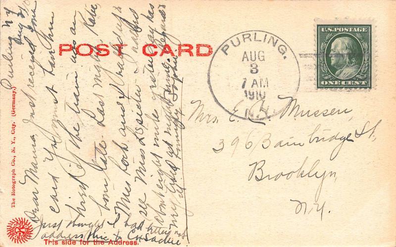 George Devasego, Catskill Mtns., Prattsville, N.Y., Early Postcard, Used in 1910