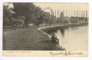 Man Admiring The View,Riverside Park,Wisconsin,PU-1907