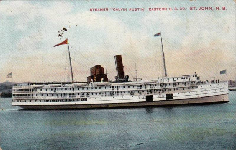 Steamer, Calvin Austin, St.John,N.B., Canada,PU-1907