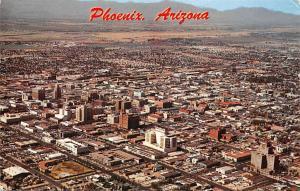 Arizona, Phoenix, Aerial View of Downtown, Capitol 1961