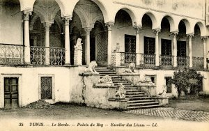 Africa - Tunis. Le Bardo. Palais du Bey. Stair of Lions