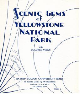 YELLOWSTONE NATIONAL PARK,  SCENIC GEMS , SERIES C.