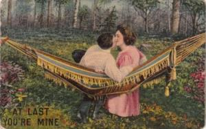 Romantic Couple In Hammock At Last You're Mine 1913