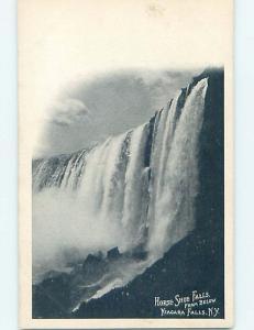 Pre-1907 Very Early View HORSESHOE FALLS FROM BELOW Niagara Falls NY A1290