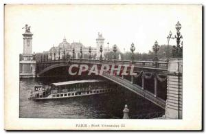 Old Postcard Paris Alexandre III bridge