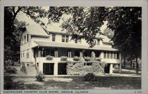 DeKalb IL Kishwaukee Country Club Postcard