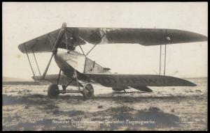 Germany WWI Detuschen Flugzeugwerke Airplane Sanke 265 RPPC 76321