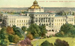 DC - Washington, Library of Congress from the Capitol