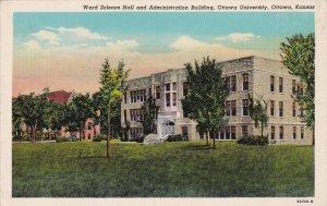 OTTAWA , Kansas , 30-40s ; Science Hall & Admin Bldg , Ottawa University