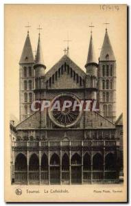 Old Postcard Belgium Tournai The Cathedral