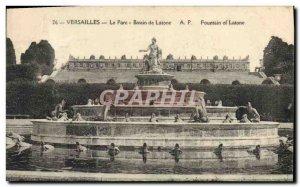 Old Postcard Versailles Park BASIN Latona