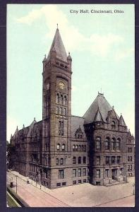 City Hall Cincinnati OH unused c1910's