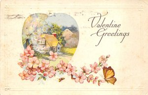 Butterflies Post Card, Butterfly Postcard Valentine Greetings 1920