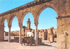 Arched pillars in the courtyard of the Dome of the Rock JerUSA lem Israel Unu...