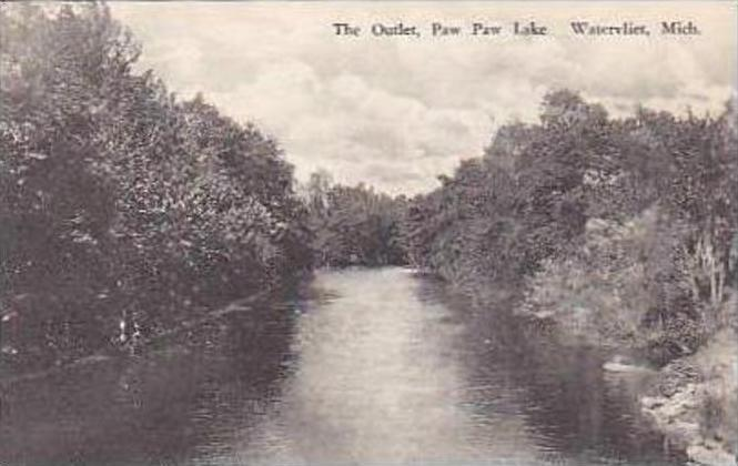 Michigan Watervliet The Outlet Paw Paw Lake Albertype