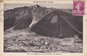 France Chamonix Mont Blanc Vue generale et le Brevent