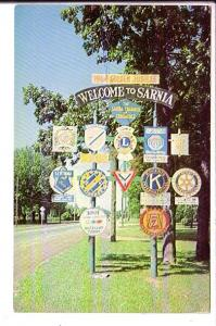 1964 Goldne Jubilee, Community Groups Welcome Sign, Sarnia, Ontario