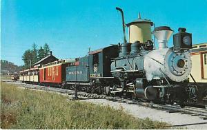 Narrow Guage Train Hill City Black Hills SD Chrome Postcard