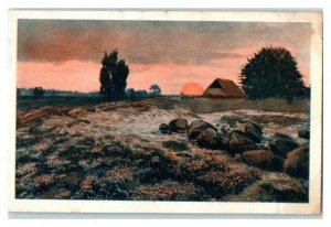 Luneburger Heide, Beautiful German Landscapes, Echte Wagner Trade Card *VT31W