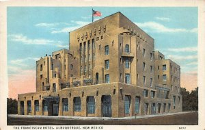 The Franciscan Hotel, Albuquerque, New Mexico, Early Postcard, Unused