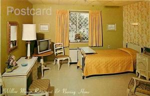 MA, Lowell, Massachusetts, Willow Manor, Retirement & Nursing Home, Bed Room,...