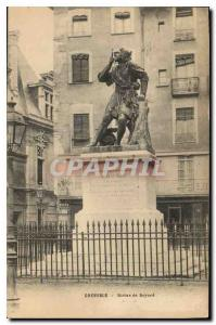 Old Postcard Grenoble Statue of Bayard