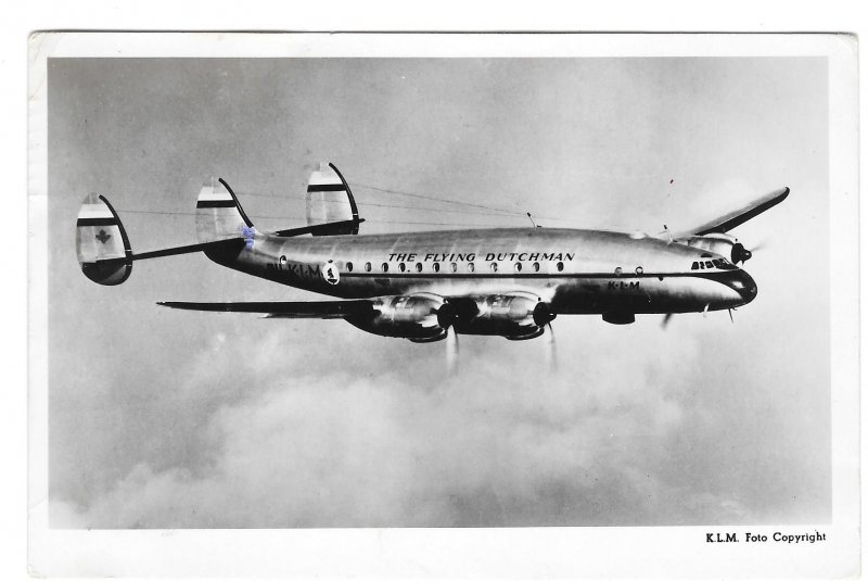 The Flying Dutchman Airplane KLM Lockheed Constellation Royal Dutch Airlines PC