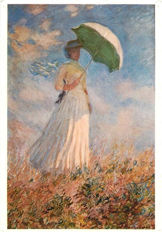 Art Monet Lady with parasol turned towards the left