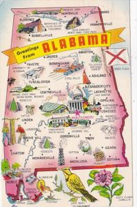 Greetings From Alabama With Map 1971