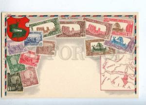231978 TUNIS Coat of arms STAMPS Vintage Zieher postcard